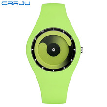CRRJU Men Watch 2017 Top Brand Fashion High Quality Casual Simple Style Silicone