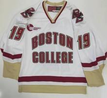 3b0510ac4 jujuland Vintage BOSTON COLLEGE white 19 CHRIS KREIDER Hockey Jersey