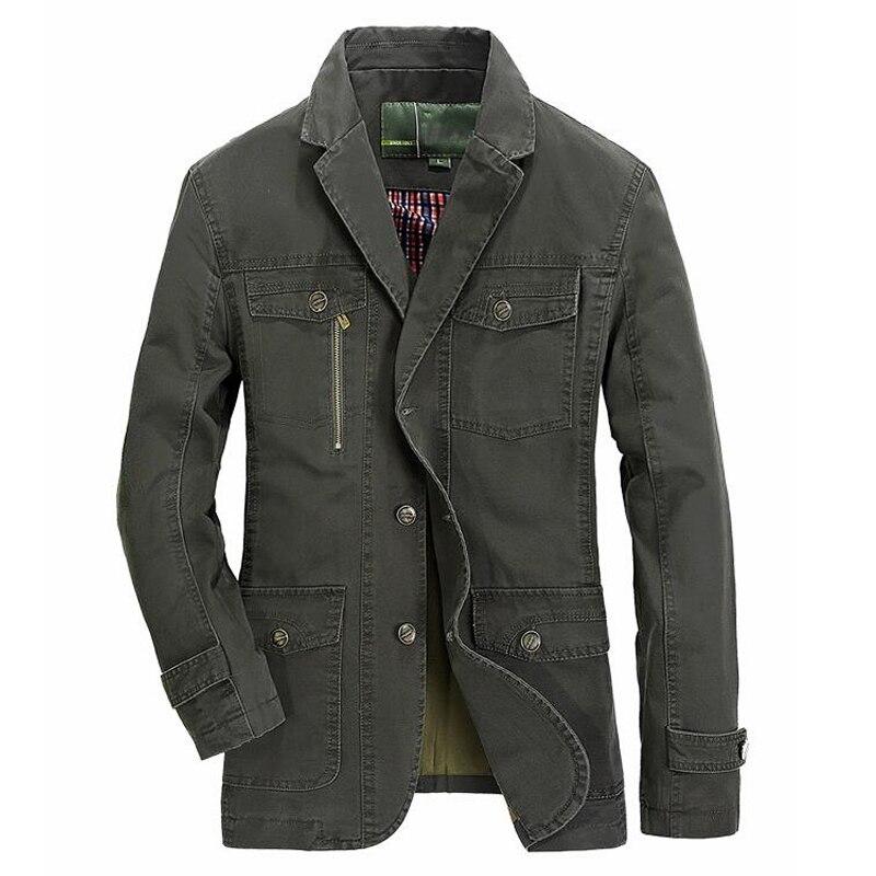 Men Cotton Casual Jacket Mens Spring Autumn Outwear Military Suit Coats Male Casaco Masculino Plus Size 4xl 5xl Blazer Jackets