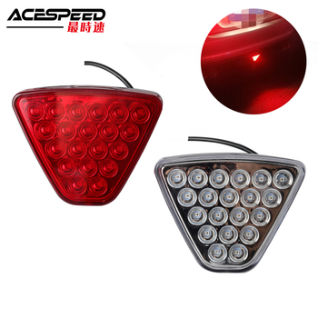 цена на Universa Mugen JDMl LED Rear Brake Fog Lights Square Pilot Light F1 Style Rear lip Bumper Lamp For Honda