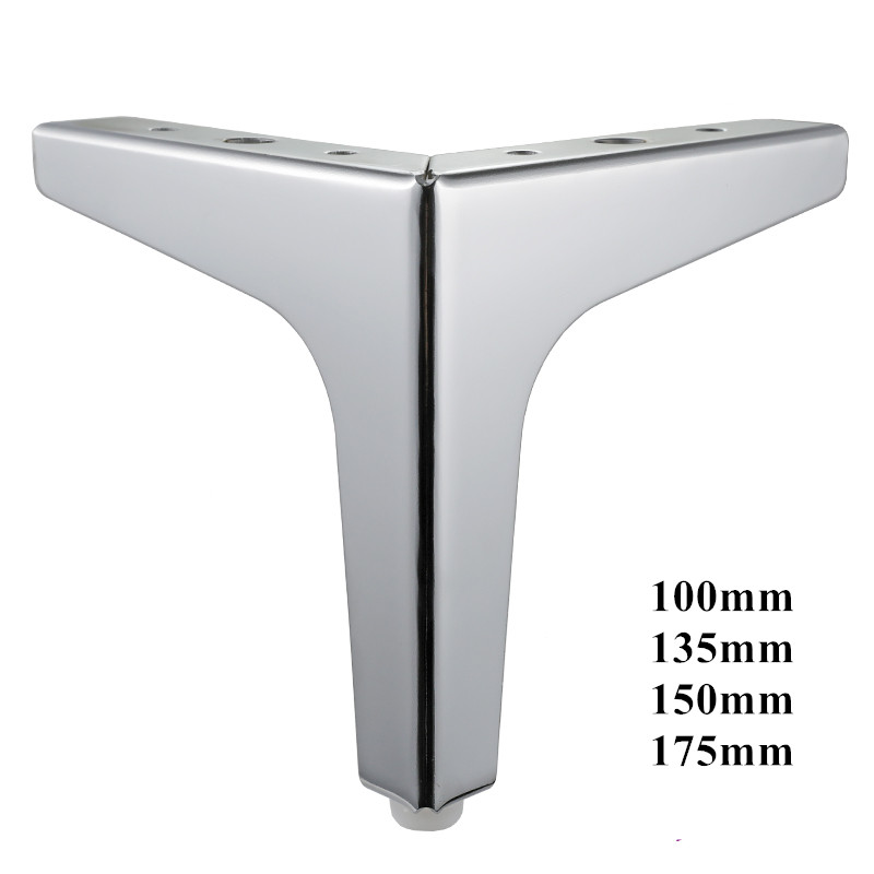 4pcs  Metal Furniture Leg Support Silver Coffee Table Legs Sofa Foot Furniture Accessories Rubber Foot Bed Riser