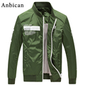 Anbican Fashion Bomber Jacket Men 2017 Spring Brand New Slim Varsity Jacket Army Green Military Mens Casual Jackets and Coats