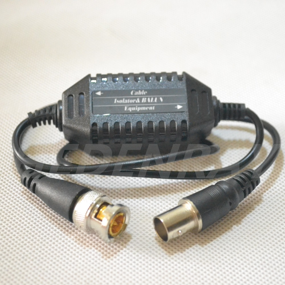 Coaxial Video Ground Loop Isolator Balun BNC Male to Female for CCTV Camera