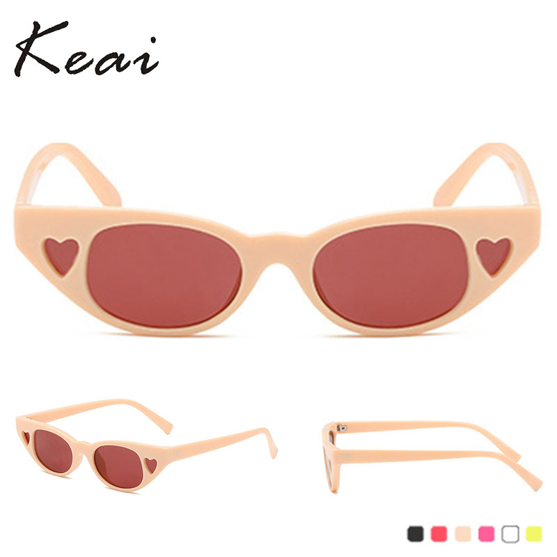 Vintage Sunglasses Women Cat Eye Luxury Brand Designer Sun Glasses Retro Small Heart ladies Sunglass Black Eyewear oculos in Women 39 s Sunglasses from Apparel Accessories