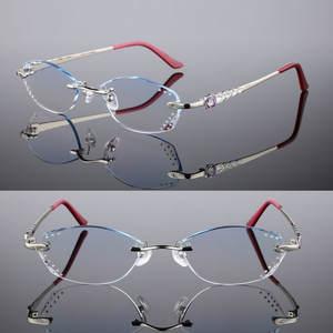 9f6bbcd3d18 GAOGUOMU Female models diamond glasses lenses prescription