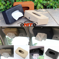 1pcs Car Use Tissue Boxes Organizer Great Leather Big Space Automatic Strong Ceiling Mount Storage Box