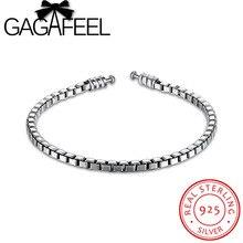 Люкс 100% стерлингового серебра 925 пробы цепи Браслеты подходят оригинальный Шарм бисера 19 см женские Аутентичные jewelry браслет подарок Прямая доставка