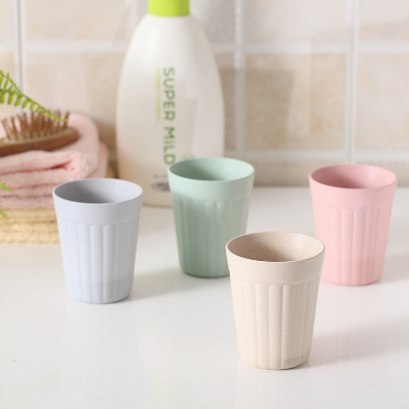24 Piece Babycare Cup Green Bamboo Fiber Milk Cup Bambu Mugs Water Cup H2O Cups Fast Cleaner Children Kids Pure Nature Wholesale