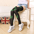 1 pair Brand Leaves Leaf Harajuku Women Lady Girl Thigh High over the knee socks sexy Stocking Stockings Medias