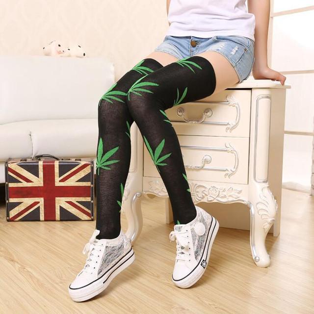 1 pair Brand Leaves Leaf Stocking Stockings