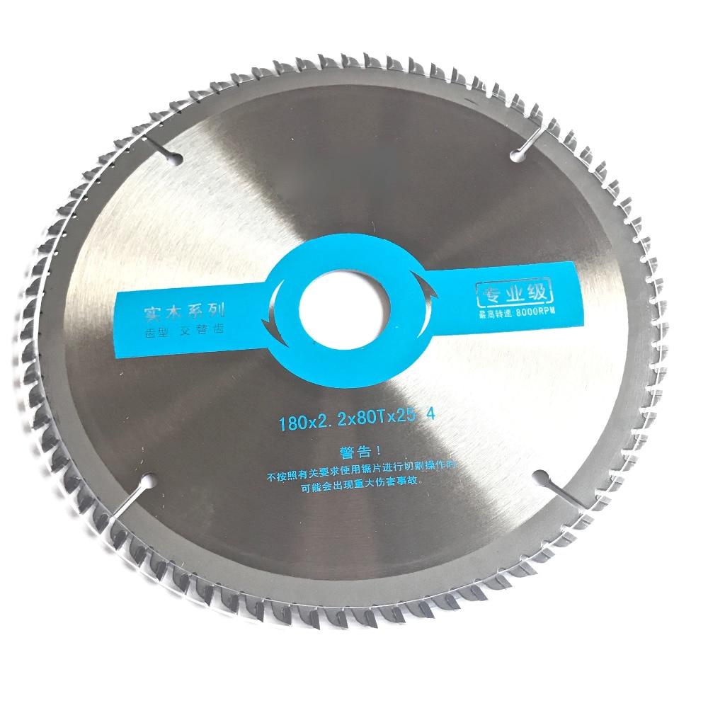 Qualità professionale 180 * 25,4 * 2,2 * 80z TCT sega circolare in metallo duro ad alta densità per la decorazione domestica taglio del legno