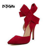 2014 Sophia Webster Lady Evening Spring Royal Blue Footwear Red Nude Big Bow Tie Pumps Pointed