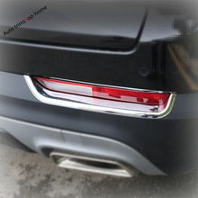 Yimaautotrims Rear Tail Fog Lights Lamp Eyelid Eyebrow Cover Trim Fit For Cadillac XT4 2019 2020 Chromium Styling / Exterior