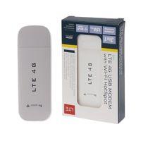 Novo 4g lte usb modem adaptador de rede com wifi hotspot sim cartão 4g roteador sem fio para win xp vista 7/10 mac 10.4 ios