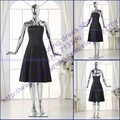 2191 Actual Images New Arrival Black A line Strapless Knee length Short Party Wear 2017 high quality cocktail dress