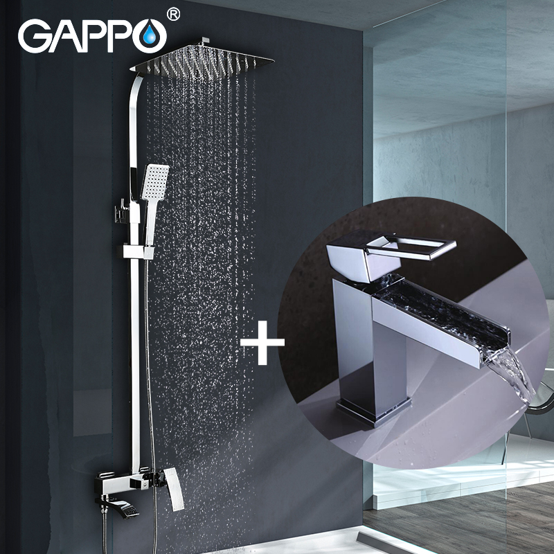 GAPPO Sanitary Ware Suite waterfall Faucets shower faucet set bronze bathtub shower mixer shower faucet Sensor Faucets