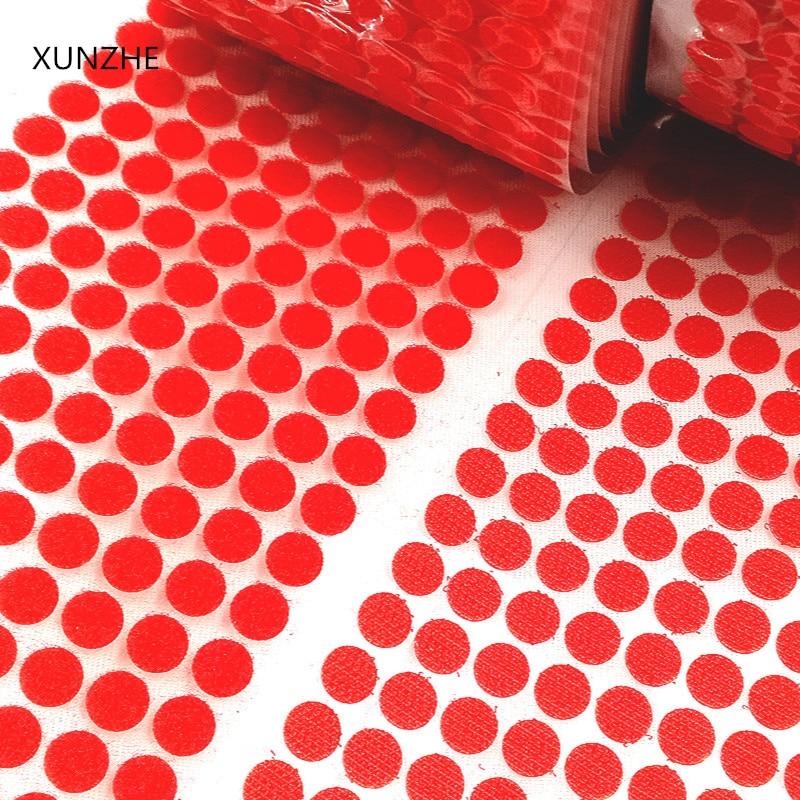 Цвет двойной клей на крючки и само Стикеры сильный Стикеры липких нейлона Водонепроницаемый крепежа Стикеры материалы 100 пар