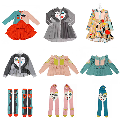INS 2017 WINTER BABY GIRL CLOTHES KIDS EYES PRINTED CHRISTMAS DRESS GIRLS DRESSES FOR GIRLS CLOTHING SETS GIRLS CLOTING VESTIDOS