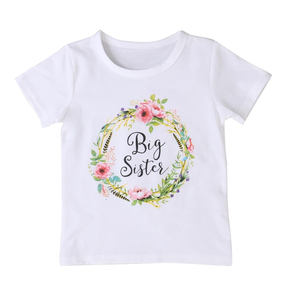 Girls t shirts short sleeve flower outfits t shirt baby for Newborn girl t shirts
