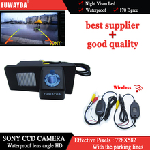 FUWAYDA Wireless SONY CCD Car Rear View Mirror Image With Guide/Help Line CAMERA for Ssangyong Rexton Ssang yong Kyron