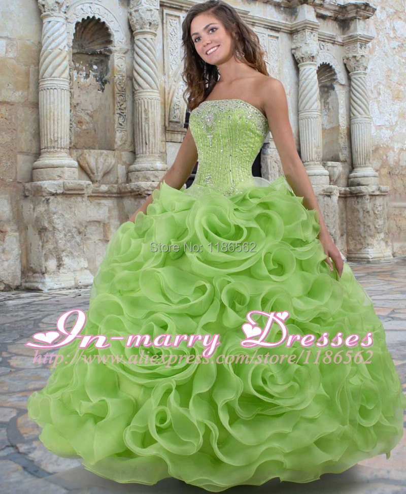 popular lime green quinceanera dressesbuy cheap lime