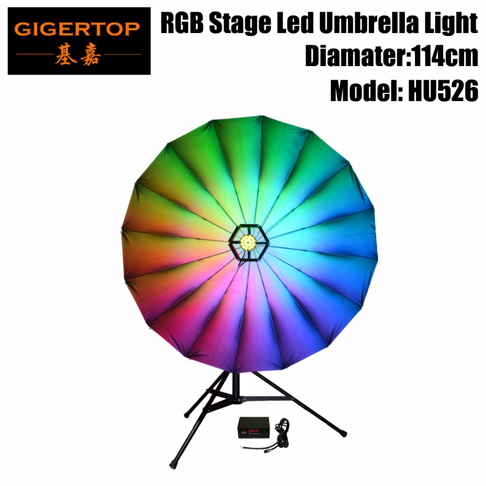 New Arrival 25inch Umbrella Light,114pcs 0.2w 3in1 Leds,full Cmy Color Mixing,6/24dmx Channels,small Effort,great Result Stage Lighting Effect