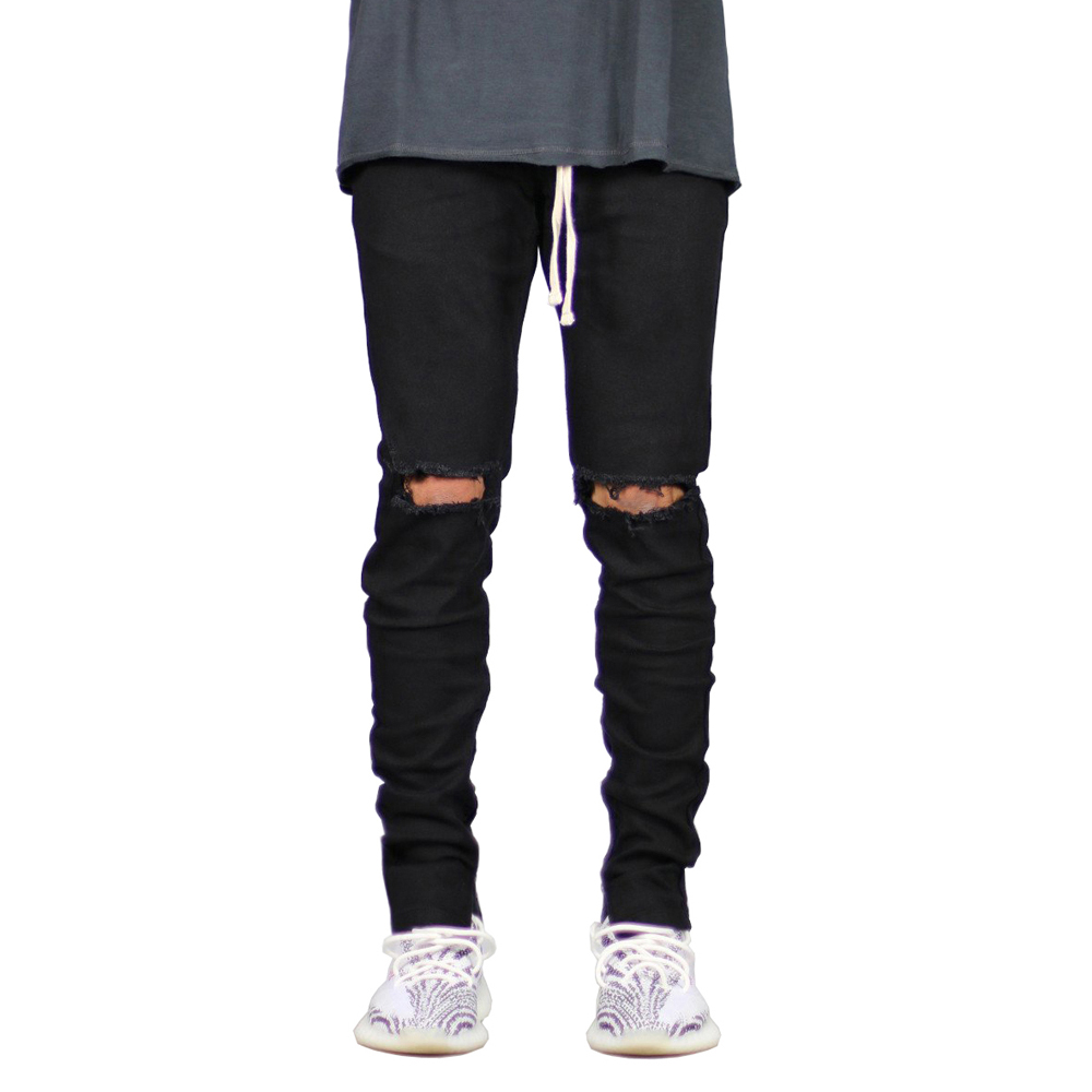 2018 New Men Ripped Zipper Jeans Spring Autumn Skinny Hip Hop Jeans