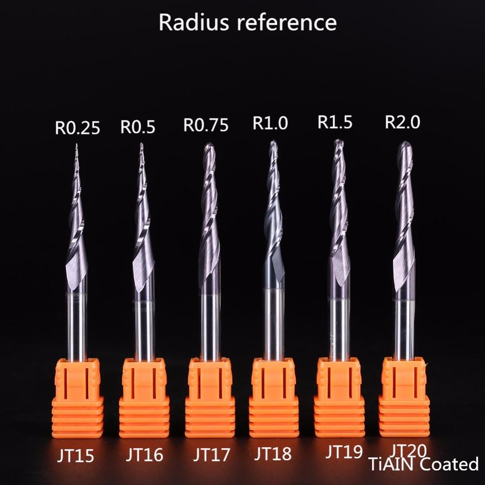 2 sztuk / partia R0.75 * D6 * 30.5 * 75L * 2F stożkowe węglikowe - Obrabiarki i akcesoria - Zdjęcie 6