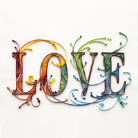 Unfinished DIY Handwork Craft Paper Quilling Art Decor Picture Violin Feather Crab Heart Balloon Maple Unicorn