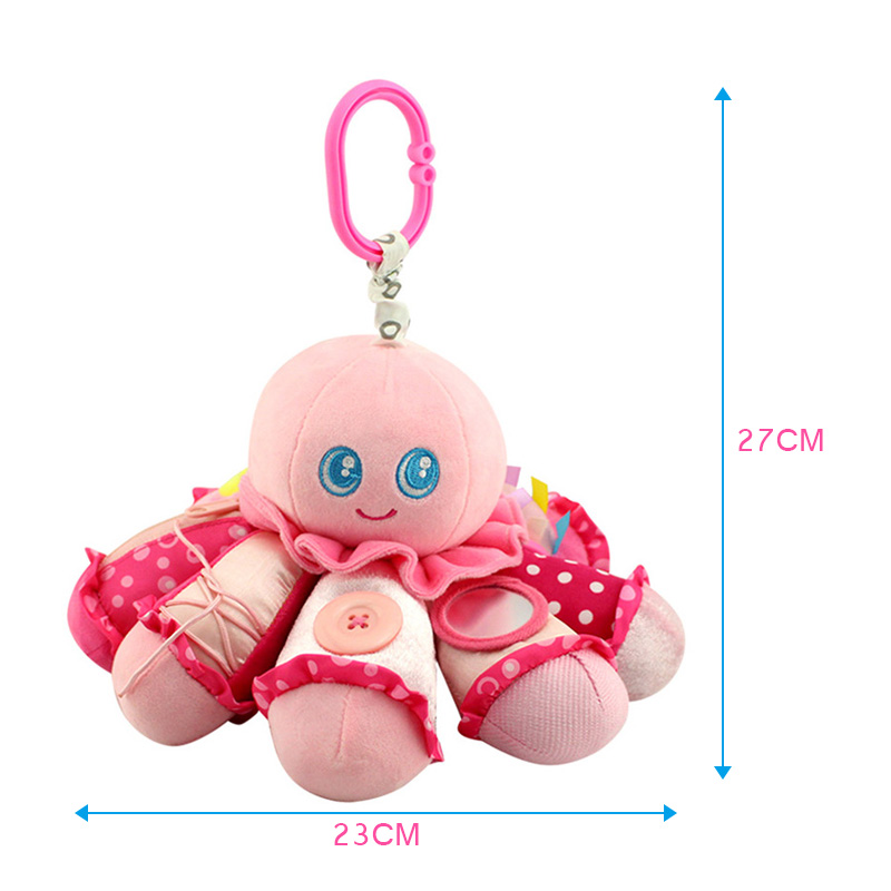 Baby Plush Animal Doll Octopus Rattle Crib Hanging Developmental Soft Toys M09 ...