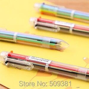 Image 3 - 50 stks/partij Multicolor Balpen, 6 kleuren balpen, leuke balpen gift pen voor kinderen en student.