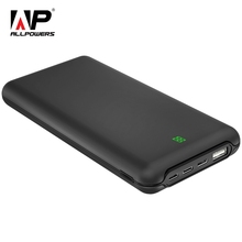 ALLPOWERS 20000mAh Power Bank External Battery Fast Type-C Charger with 3 Input & Dual Output LCD Display for Mobile Phones dual output 20000mah external mobile power source battery pack for iphone more white