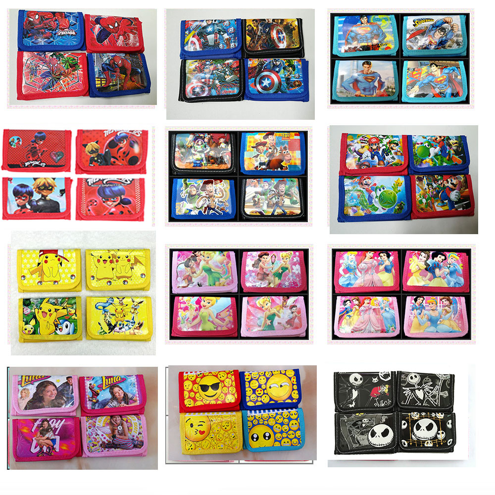 12Pcs Hello Kitty Thomas Despicable Me Coin Purse Cute Kids Cartoon Wallet Bag Pouch Children Purse Small Wallet Party Gift