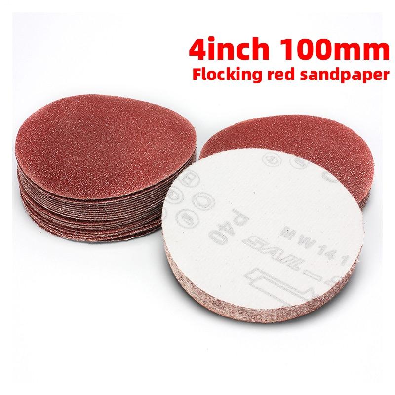 1Pcs 4Inch 100MM Round Sandpaper Disk Sand Sheets Grit 40-2000 For Choose Hook And Loop Sanding Disc Sander Grits Dry Grinding