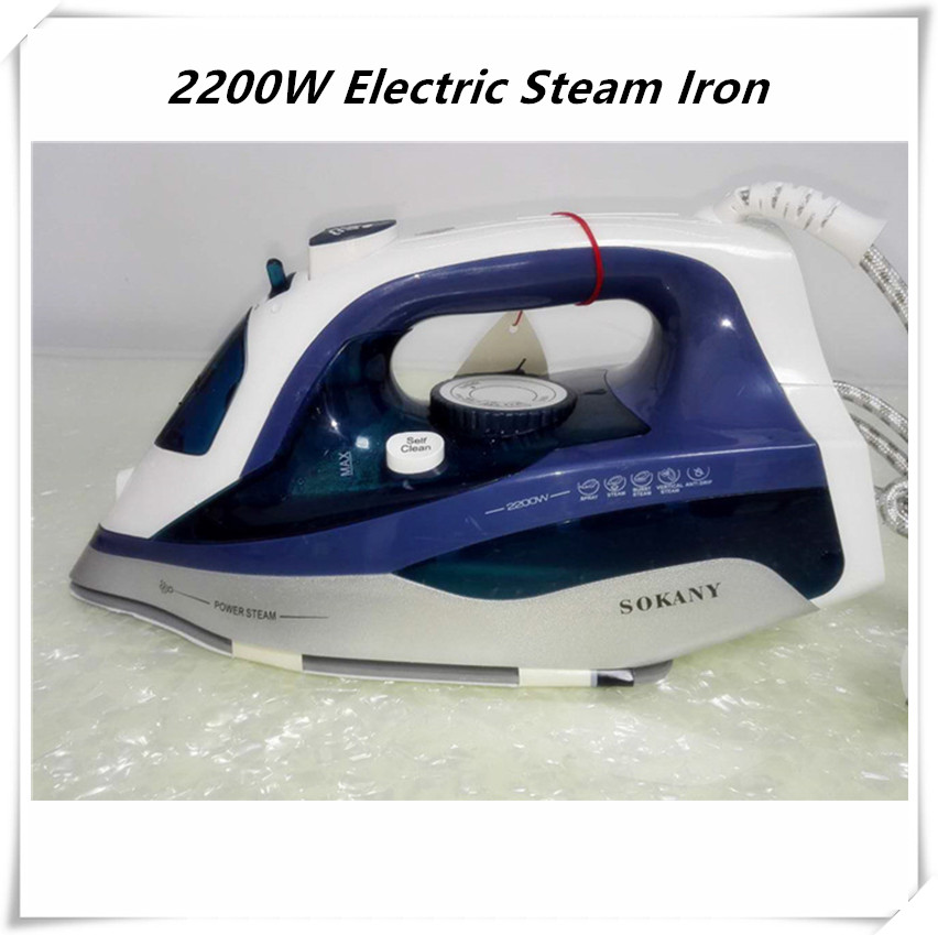 2200w Powerful Steam Iron for Clothes Ceramic Base Plate Electric Steam Irons Handheld Vertical Steamer Iron for home use akexiya mesh wedges sandals summer gladiator sandals platform shoes woman slip on creepers slippers gold silver slides