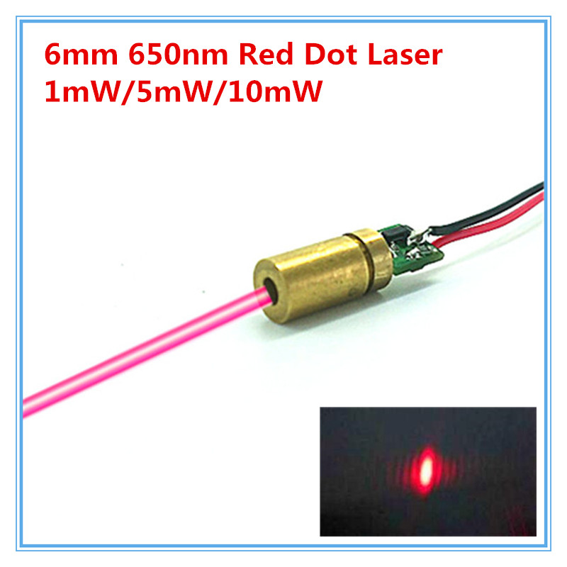 6mm 650nm 1mw 5mw 10mw Red Dot Laser Module Industrial Grade APC Driver