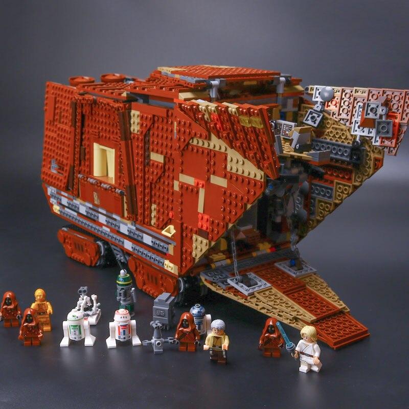 DHL Lepin 05038 3346Pcs star Series wars The 75059 Force Awakens Sandcrawler Set Building Blocks Bricks Toys For birthday Kids seiko настольные часы seiko qhj201g коллекция настольные часы