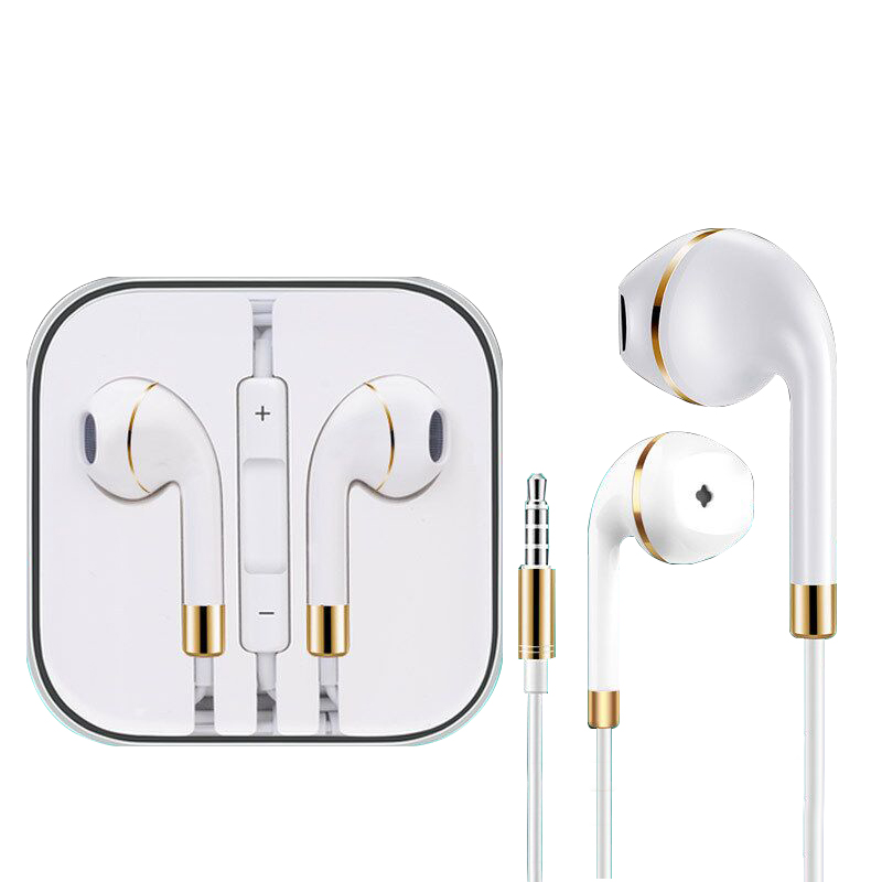 New Universal Earphone Headset wired with Mic for iphone 5s 5 6s Plus xiaomi Samsung Earbuds Bass Stereo Headphone