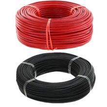 Fio de silicone preto com 5m vermelho e 5m, fio colorido de silicone 8 10 12 14 16 18, alta qualidade, 10, metro/lote 20 awg 40% de desconto