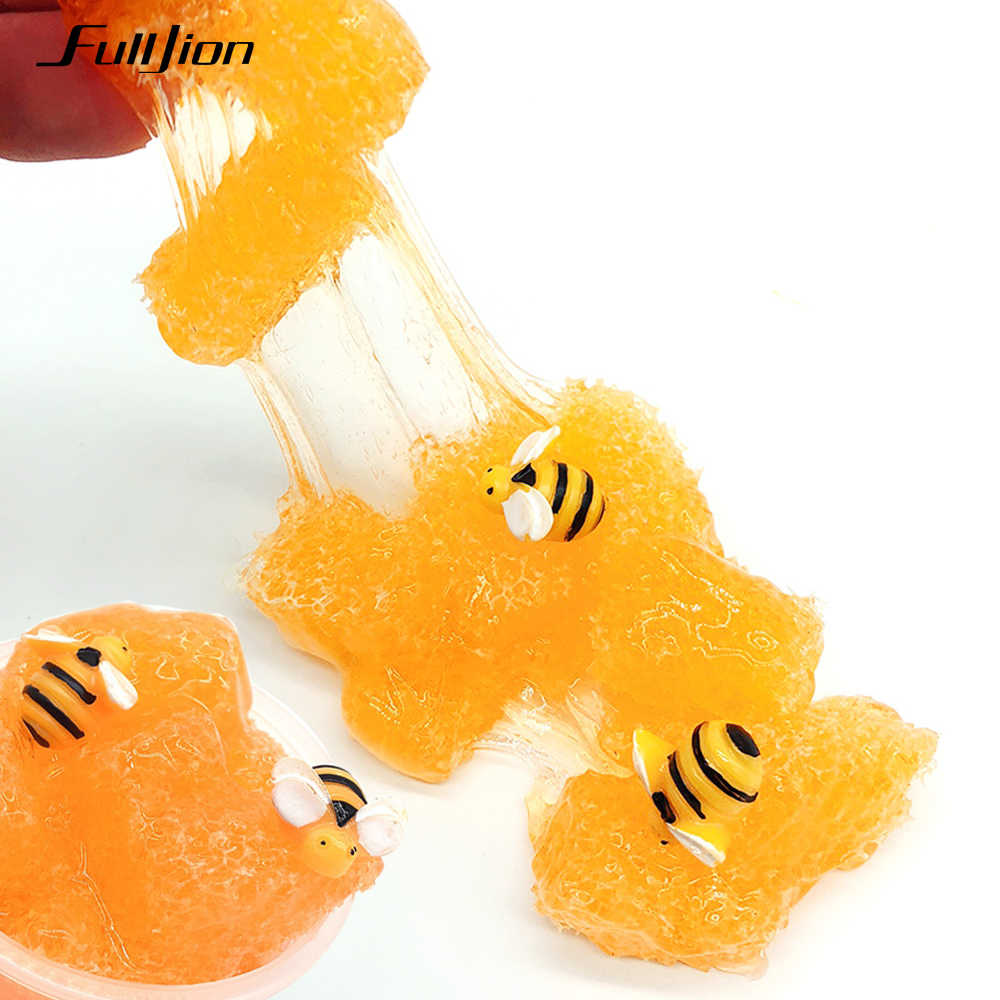 Fulljion Fluffy Slime Clear Plasticine Kits Slime Modeling Box Butter Clay Honey Lizun Glue Bee Toys Stress Relief DIY Handgum