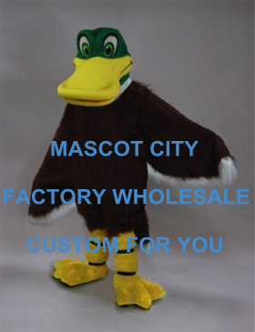 Best Mascot Custom Mallard Duck Mascot Costume Adult Cartoon Character Outfit Suit Fancy Dress for Carnival Party Cosply SW774