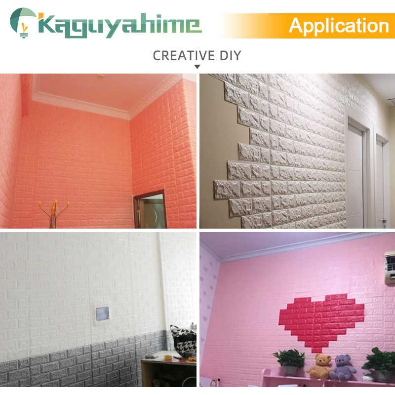 Kaguyahime 3D Giấy Dán Tường TỰ LÀM Đá Cẩm Thạch Miếng Dán Chống Thấm Nước Dán Tường Giấy Tờ trang trí Nhà Trẻ Em Phòng 3D Tự Dán Giấy Dán Tường Gạch