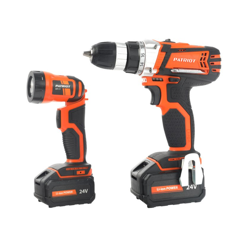 Drill-screwdriver rechargeable PATRIOT BR 244Li LED The One (2 speed, work light, flashlight)
