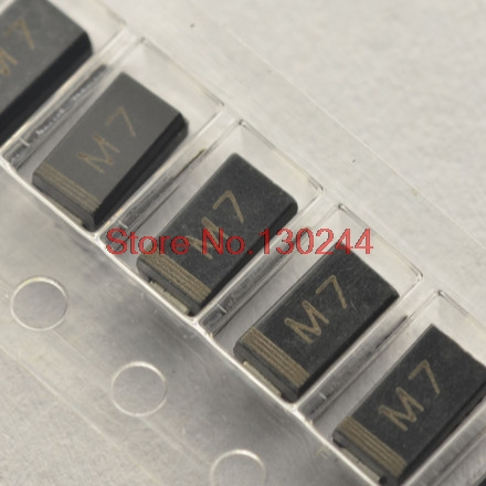 100pcs/lot <font><b>DIODE</b></font> M7 <font><b>1N4007</b></font> <font><b>SMD</b></font> 1A 1000V IN4007 Rectifier <font><b>Diode</b></font> In Stock image