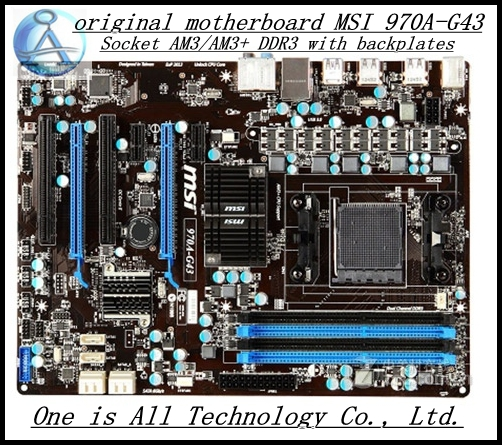 original Free shipping motherboard for MSI 970A-G43 G43 DDR3 AM3/AM3+  Solid Capacitor  free shipping msi 970a g43
