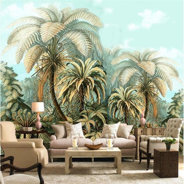 Beibehang Custom 3d Wand Papiere Handgemalte Tropische Pflanze Wand