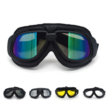 Casco Vintage para Motocross evomosa, gafas de sol steampunk de la 2. ª Guerra Mundial, gafas de sol deportivas para Pit Bike ATV, Cafe Racer para harley, casco clásico