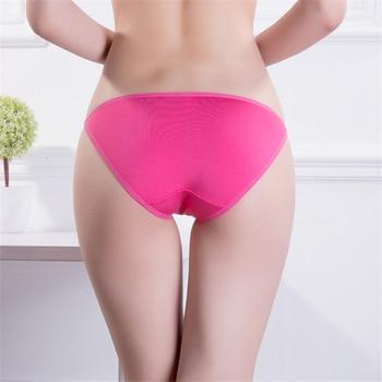 Sexy Women's Panties Underwear T-back Modal Super Low Rise Thong Girls Lingerie Ladies Briefs Soft Cotton Crotch 1 Pc FUNCILAC 1