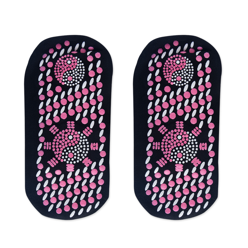 50 Pairs Self Heating Tourmaline Socks Magnetic Therapy Comfortable And Breathable Massager Winter Warm Foot Care