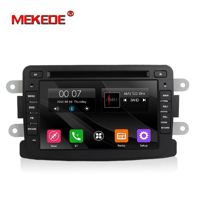 Livraison Gratuite 1din Autoradio Lecteur Dvd Pour Renault Duster dacia Dokker Lada Xray Avec GPS Navigation BT Logan/ sandero radio